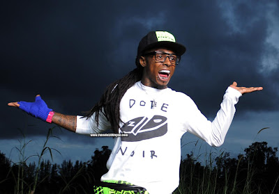 fotos de lil wayne grabando el video de strange clouds con bob