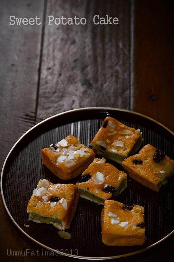 sweet potato cake atau cake ubi