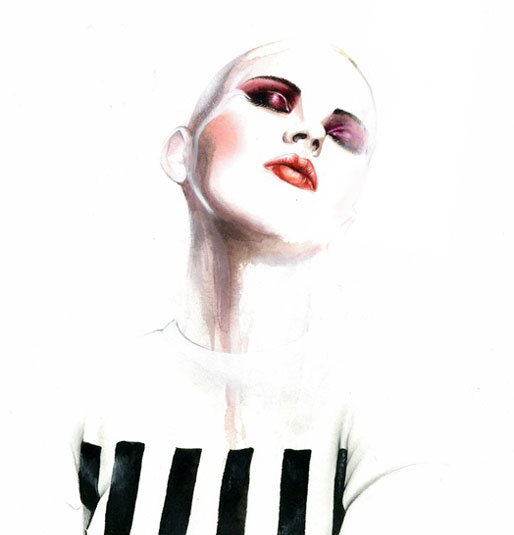 antonio soares' illustration for Marc Jacobs spring/summer 2013 collection