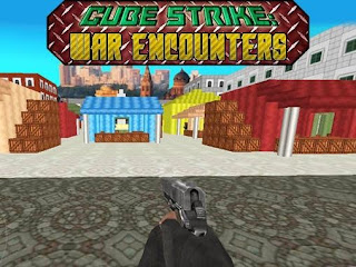 Screenshots of the Cube strike: War encounters for Android tablet, phone.