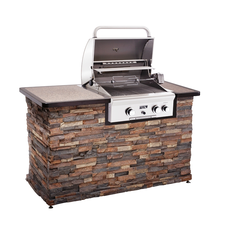 Outdoor kitchen natural gas grill post built in grills for Outdoor kitchen barbecue grills