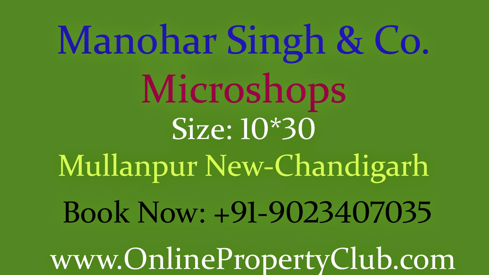 Microshops (Booths) in Manohar Singh and Company