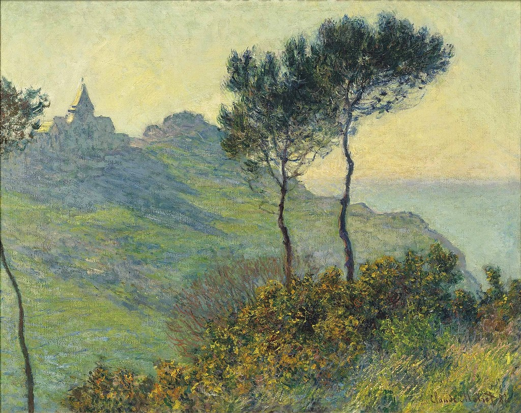 Église de Varengeville, soleil couchant (Claude Monet, 1882)