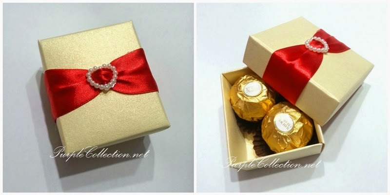 Wedding Gift Box Penang : wedding favour, box, door gift, ivory, red colour, printing, thank you ...