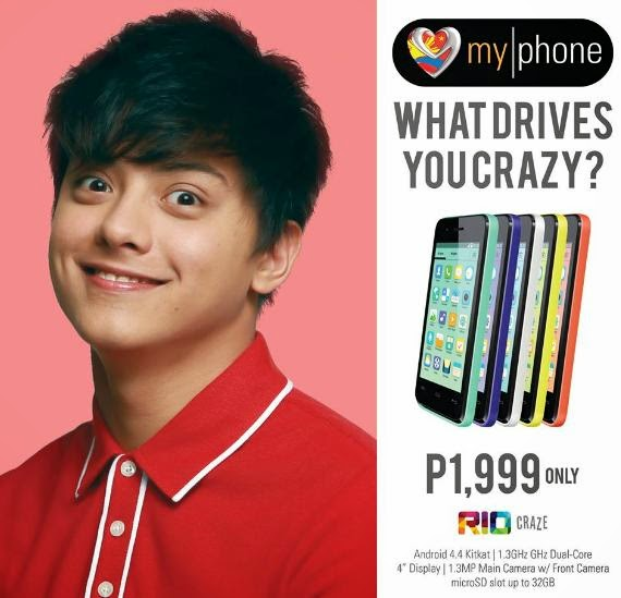 MyPhone Rio Craze, Dual Core KitKat Smartphone for Php1,999