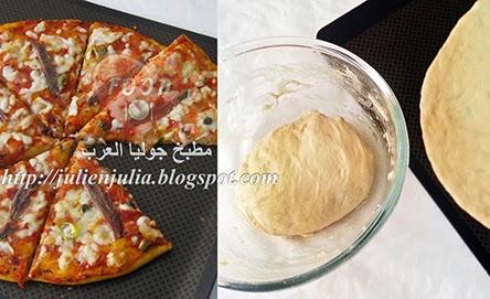 Ten minutes pizza dough طريقتي عجينة العشر دقائق