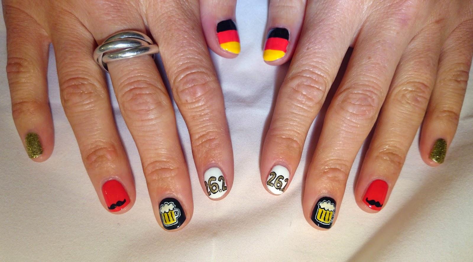 Dahlia Nails: Berlin Marathon Nails