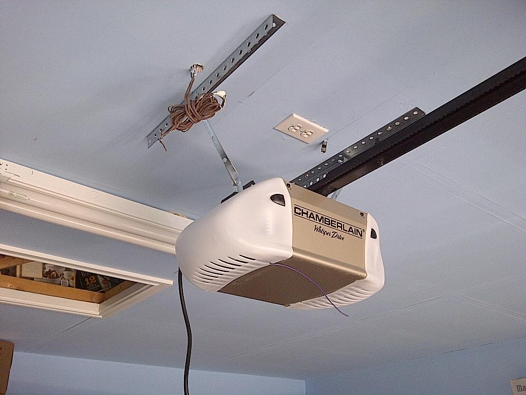 89603e ceiling mounts installed angled custom metal brackets added opener garage door opener ceiling bracket