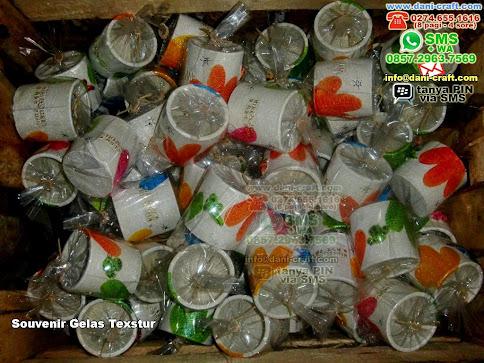 Souvenir Gelas Texstur Clay Banjarbaru