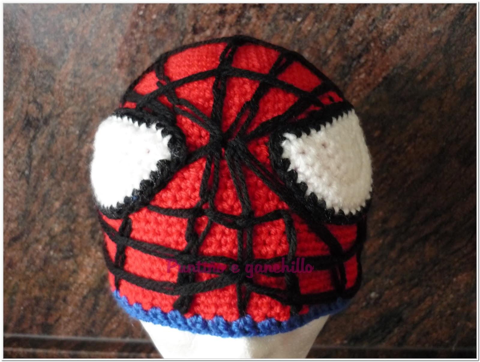 Puntiño e Ganchillo: Gorro spiderman crochet