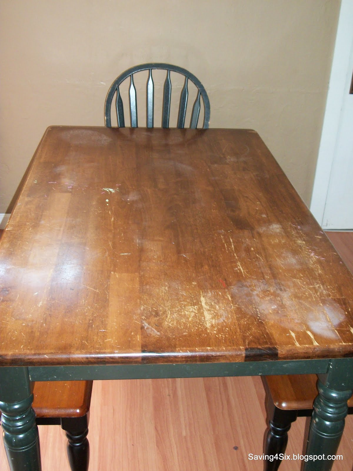 . Refinishing the Dining Room Table