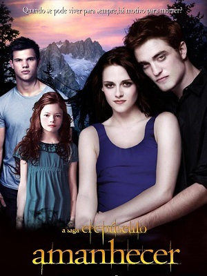 A Saga Crepúsculo - Amanhecer - Parte 1 e 2 Filmes Torrent Download capa