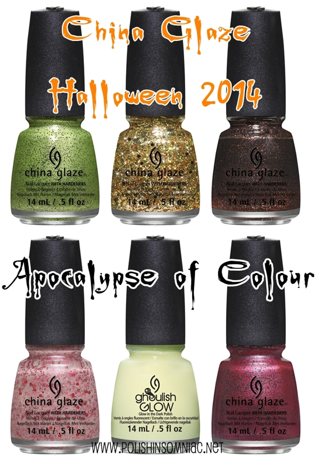 China Glaze Apocalypse of Colour (Halloween 2014)