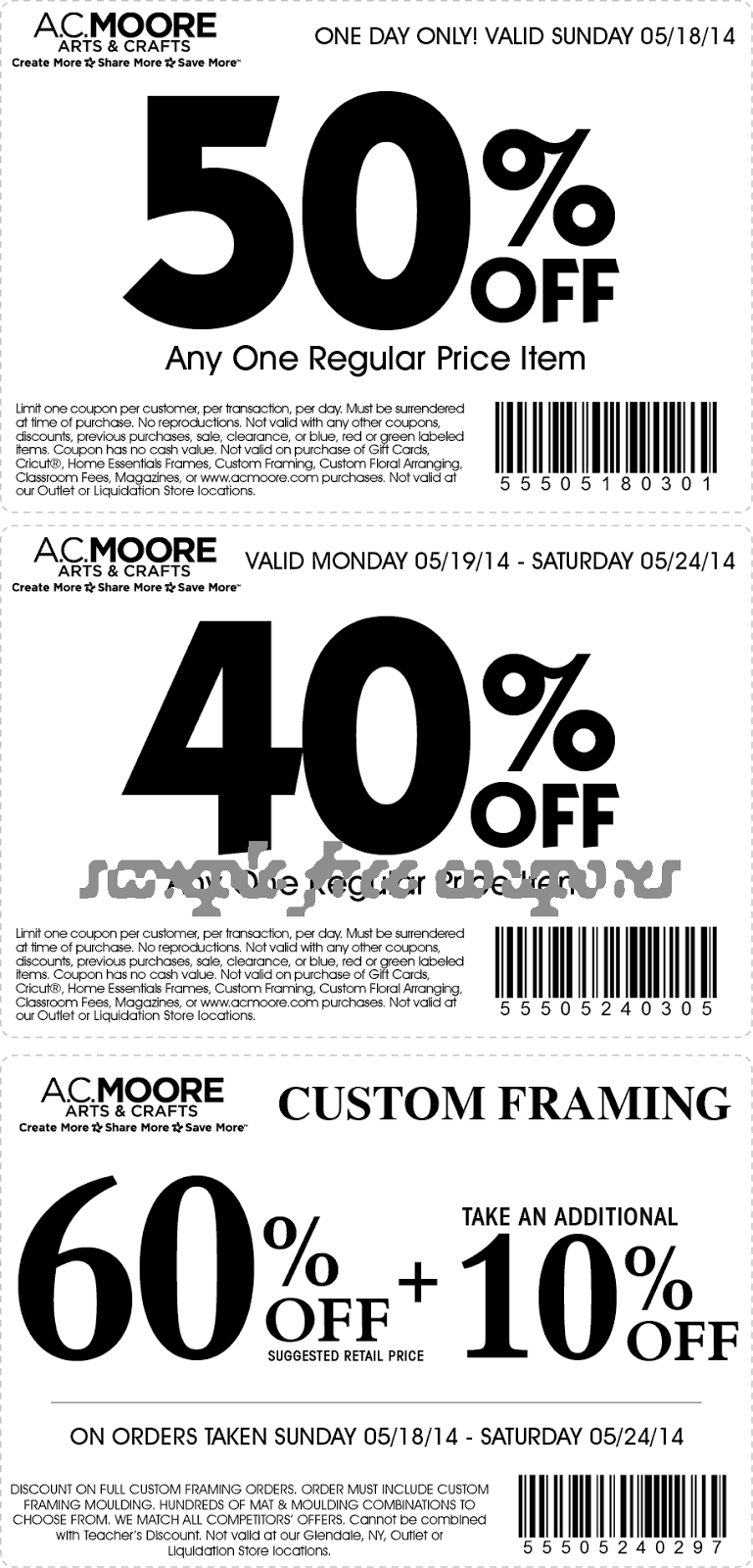 Ac moore discount coupons