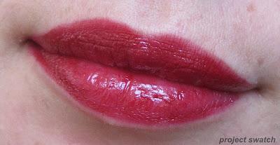 Shisedo RD 607 Nocturne lip swatch