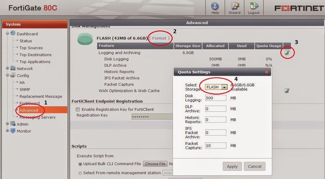 TechOn9 - Technical Online: Fortigate Firewall format disk