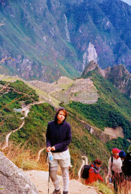 Shara hiking the Inca Trail