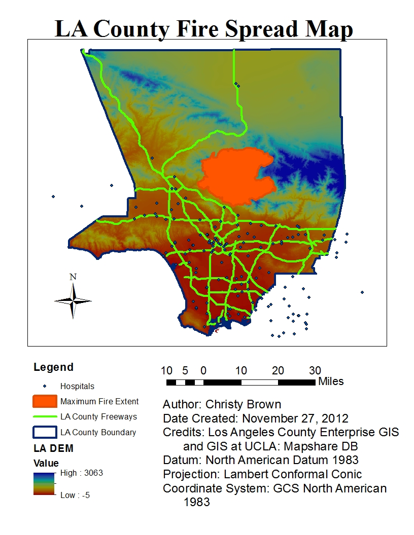 week 9 10 mapping the station fire in arcgis