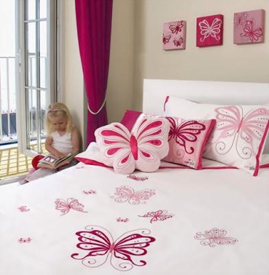 decorar dormitorios mariposas