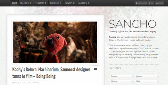 Image for Sancho WP Theme by ThemeForest
