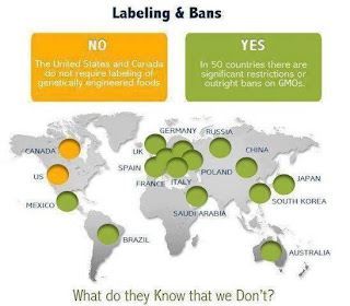 Most of the world labels GMOs, but not the US or Canada