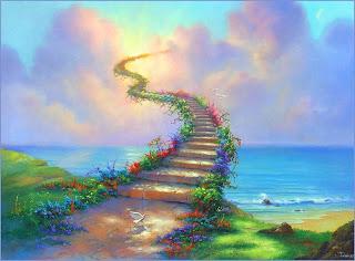 escalera hacia la felicidad