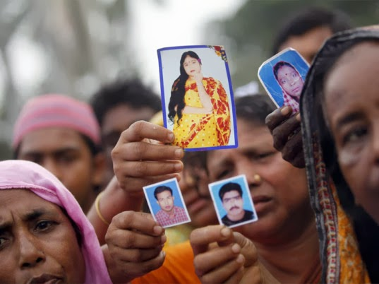 Relatives of Rana Plaza victims in Bangladesh