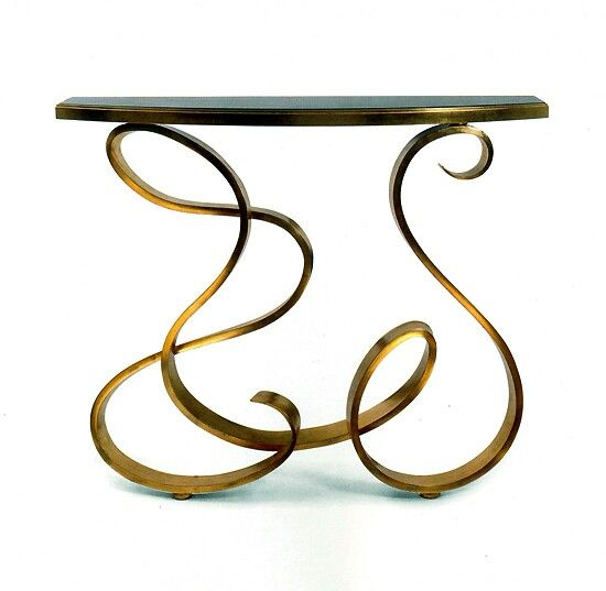 Charcoal Decores Console Table