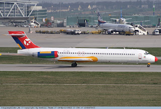 Colourful MD87 OY-JRU to Cronos Airlines