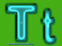 T Alphabet Coloring Pages Printable