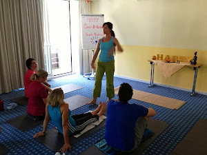 H.A.P.P.Y. on Tour - Me and Sandy De Klerk ,Yoga & Pilates for Stress Release, Starnbergersee