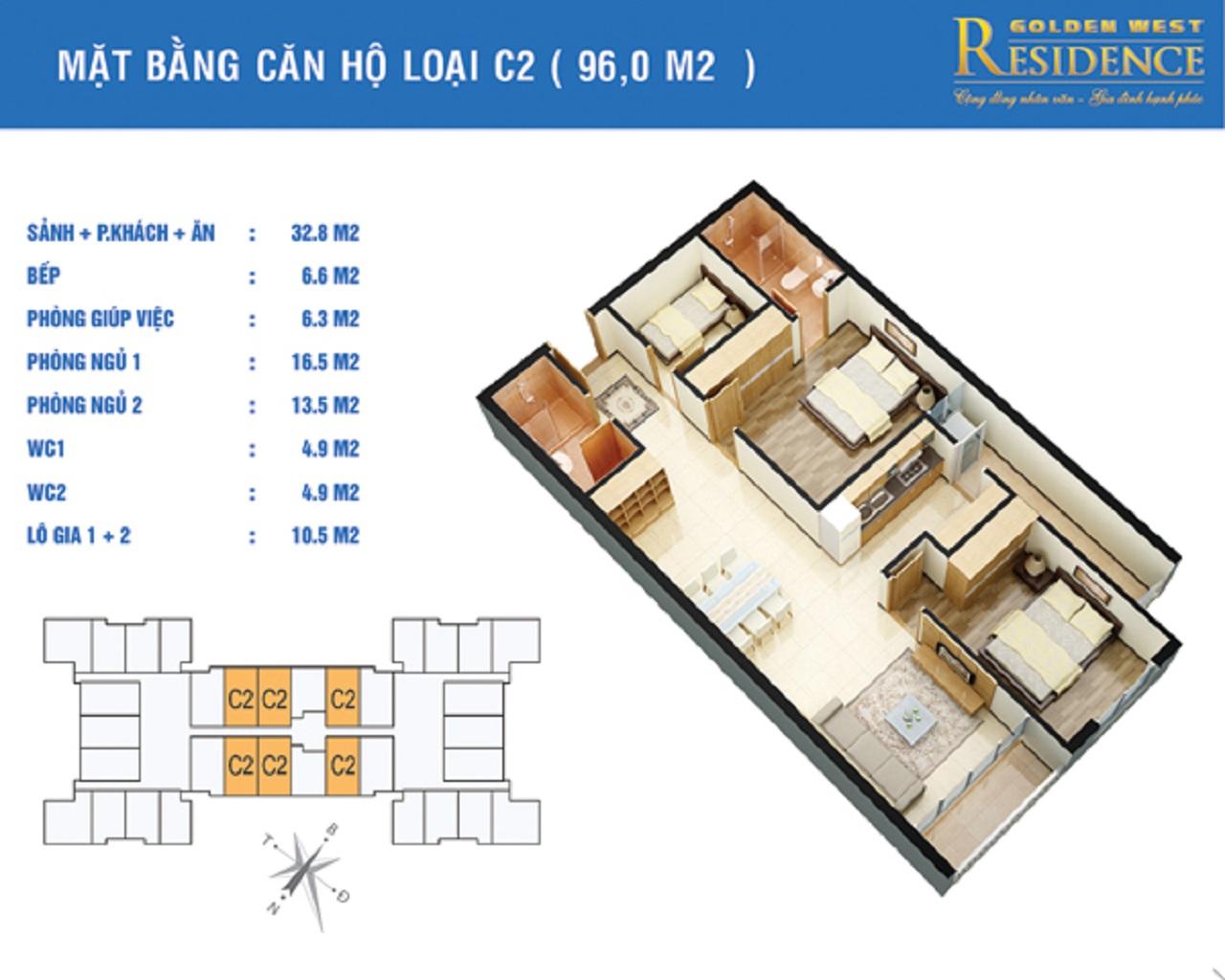 Chung Cư Golden West Residence