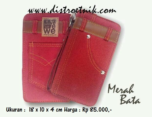 dompet jeans it just we classic series merah bata