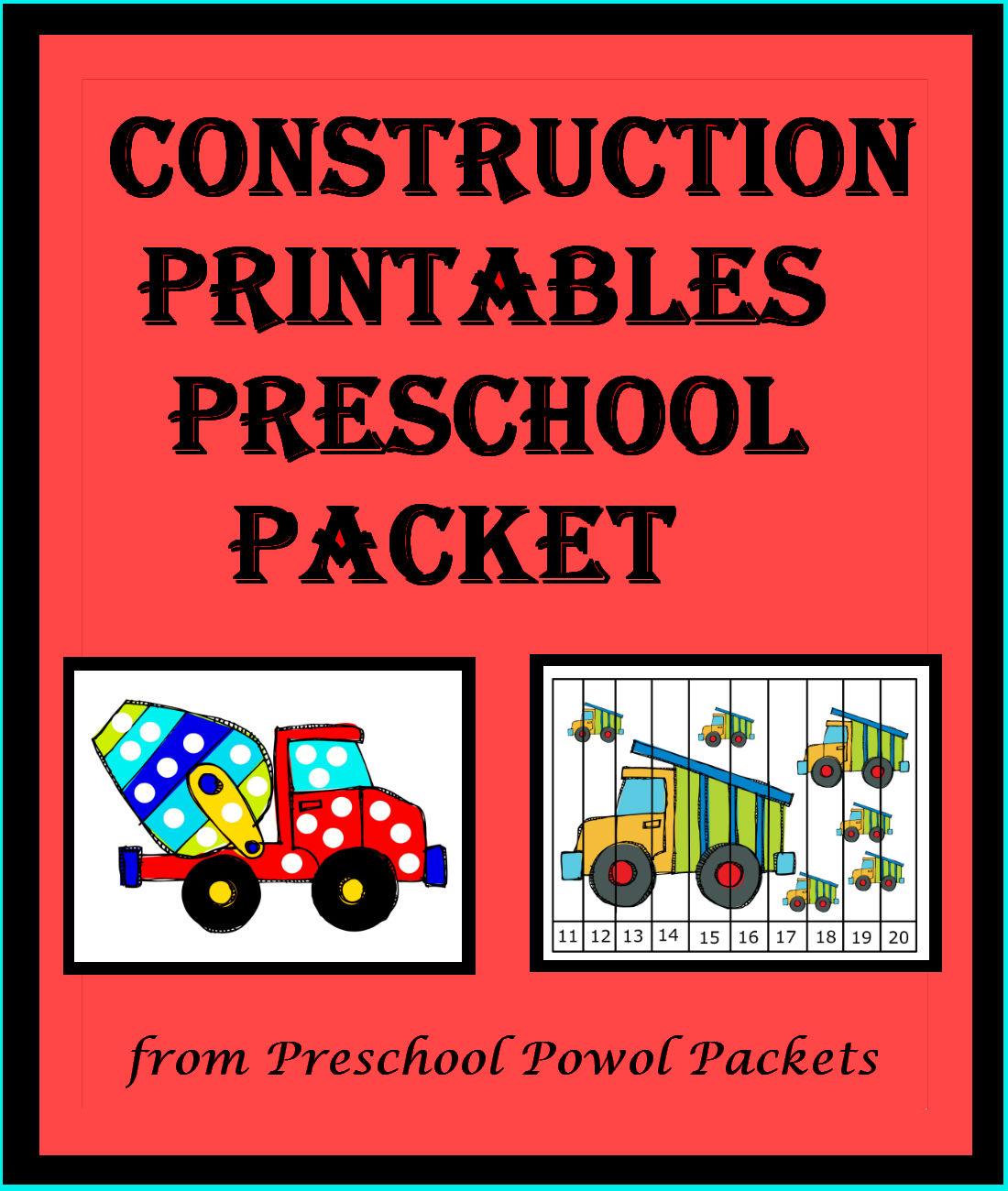 construction activities for preschoolers construction preschool packet 3 day freebie 318