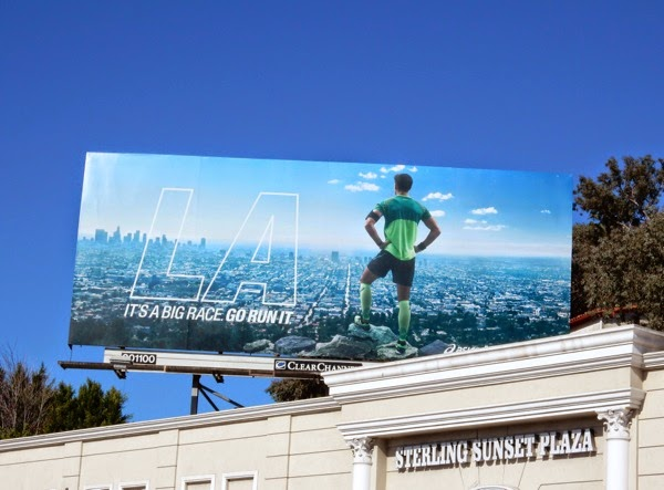 2015 Asics LA Marathon billboard
