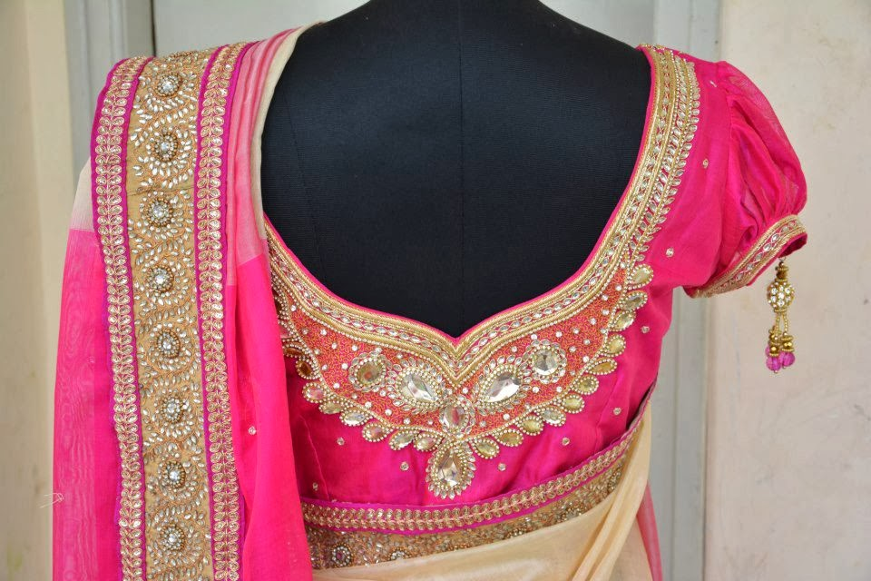 bridal saree blouse 2014
