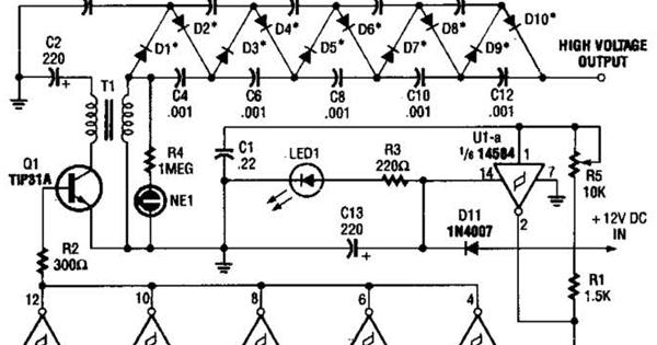 build a high voltage dc generator wiring diagram schematic