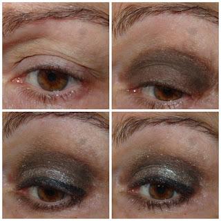 maquillaje de ojos oscuro