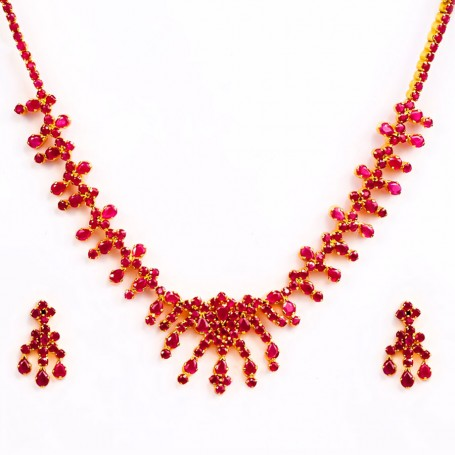 KFJ Ruby Necklace Models