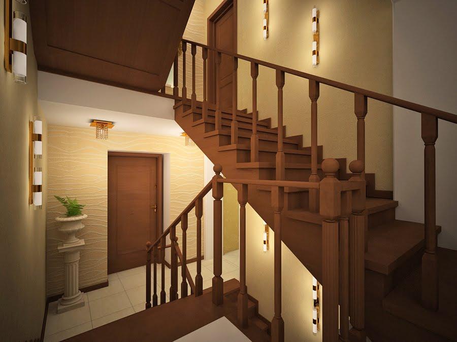 Дизайн коридора с лестницей фото 2017 современные идеи
