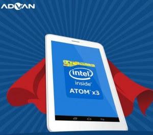 Harga Advan X7 Tablet 1 Jutaan Berotak Intel Sofia