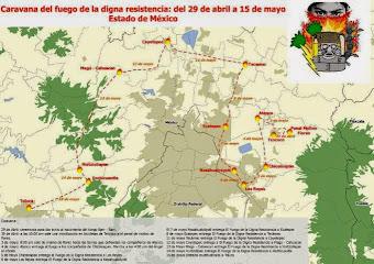 Caravana en resistencia recorrerá Texcoco y otros municipios por despojo de tierras