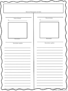 newspaper article template online - rockin resources 8 writing ideas for january