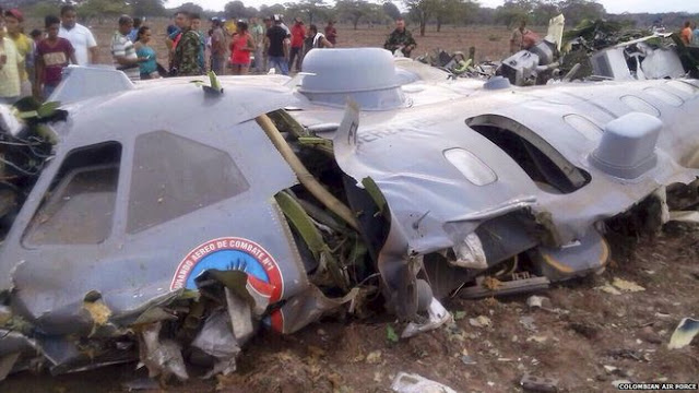 Colombian CN2235 wreckage