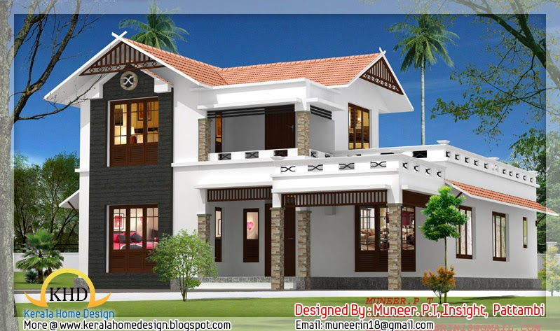 Kerala home design and floor plans: Beautiful Home elevation designs ...