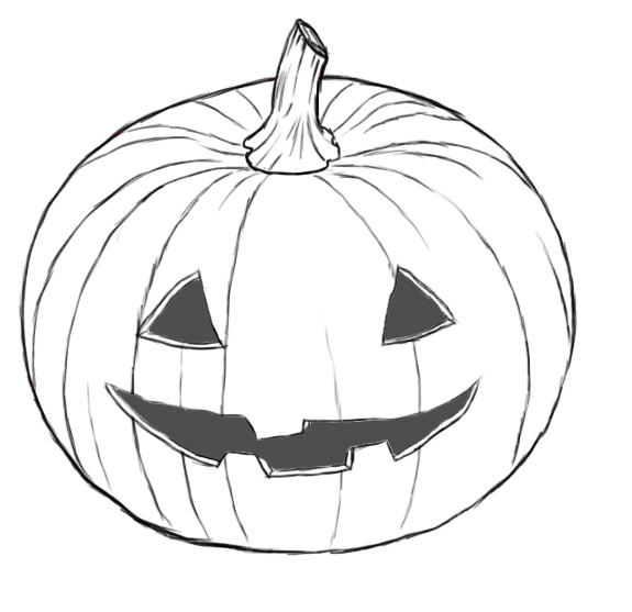 How To Draw A Pumpkin  Draw Central