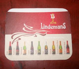 posavasos de la marca de cerveza lindemans