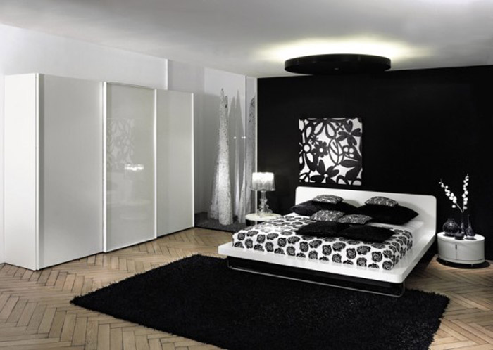 Black And White Teen Bedroom Ideas Photograph Black White