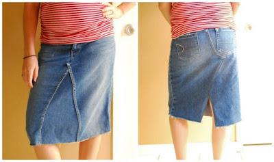 Reciclatex Cómo convertir tus jeans en una falda