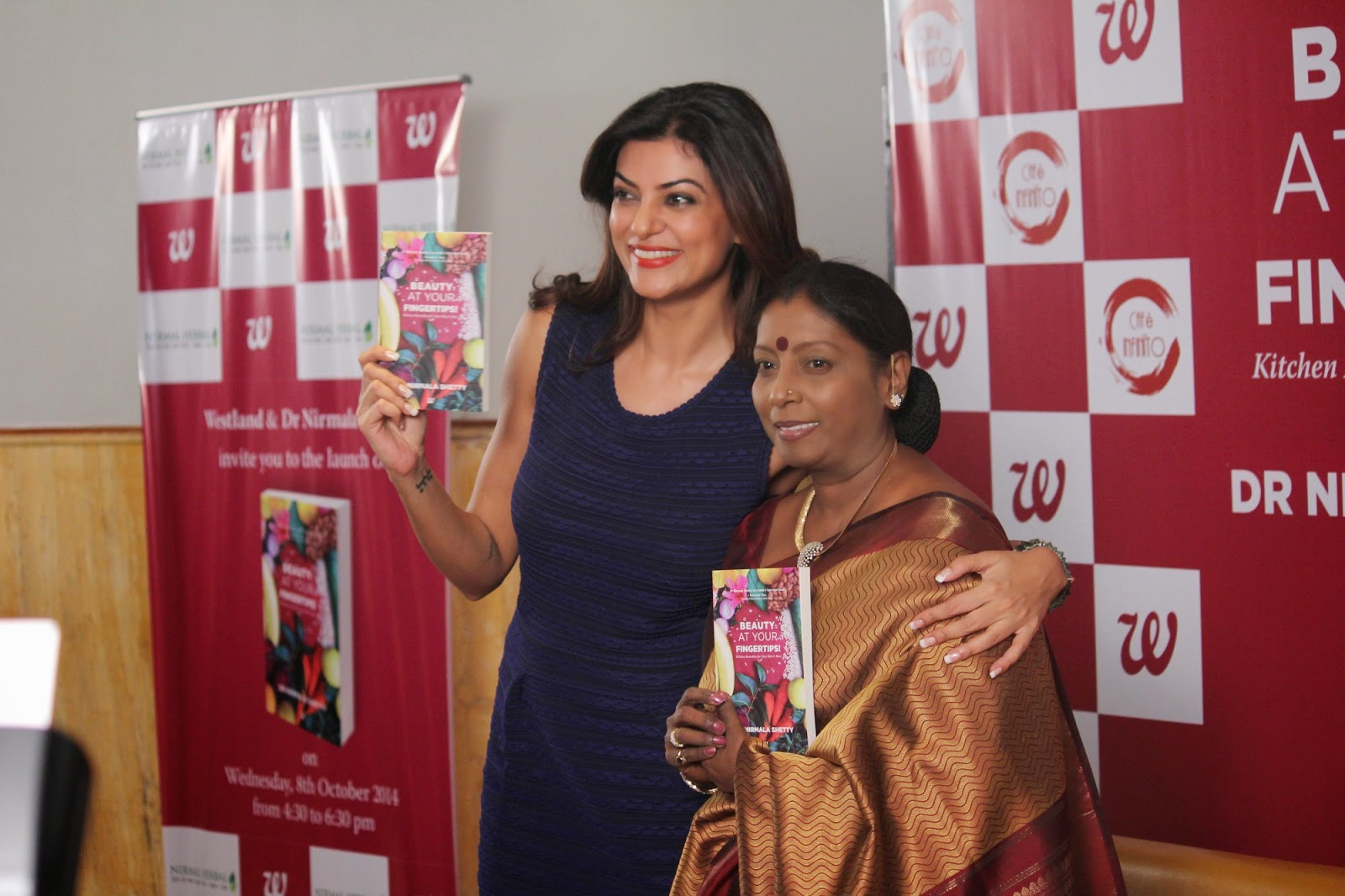 Sushmita Sen Launch Beauty At Your Finger Tips Book